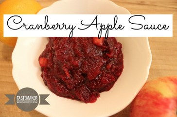 Cranberry Apple Sauce