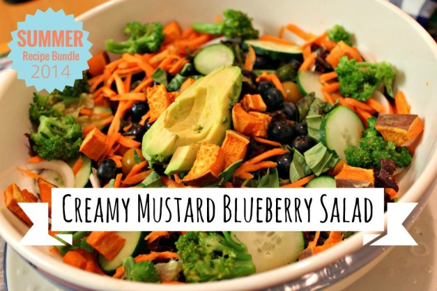 Creamy Mustard Blueberry Salad