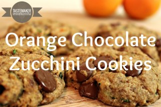 Orange Chocolate Zucchini Cookies