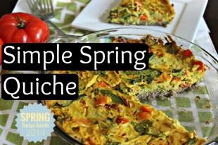 Simple Spring Quiche