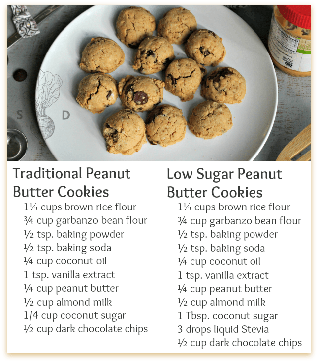 low sugar cookies with stevia