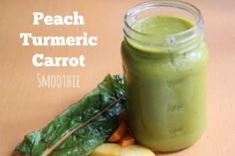 Peach Turmeric Carrot Smoothie