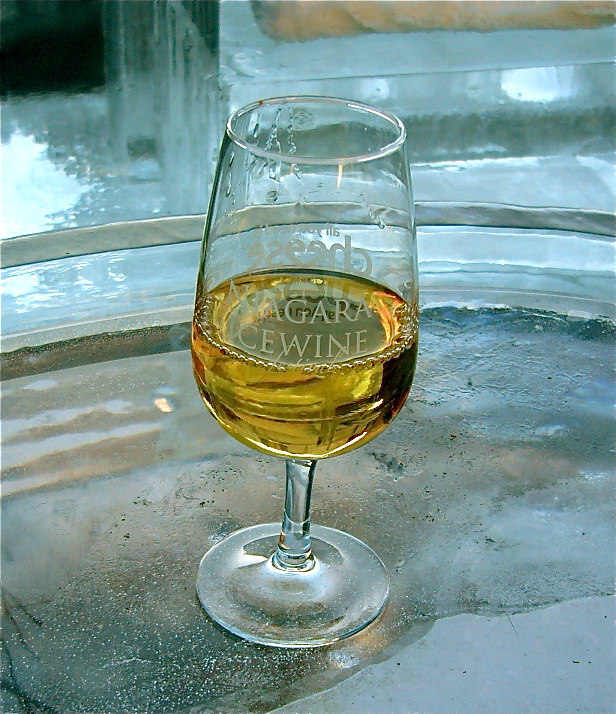 An ice wine martini