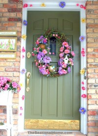 Spring and Easter Outdoor DOOR Decoration  The Seasonal ...