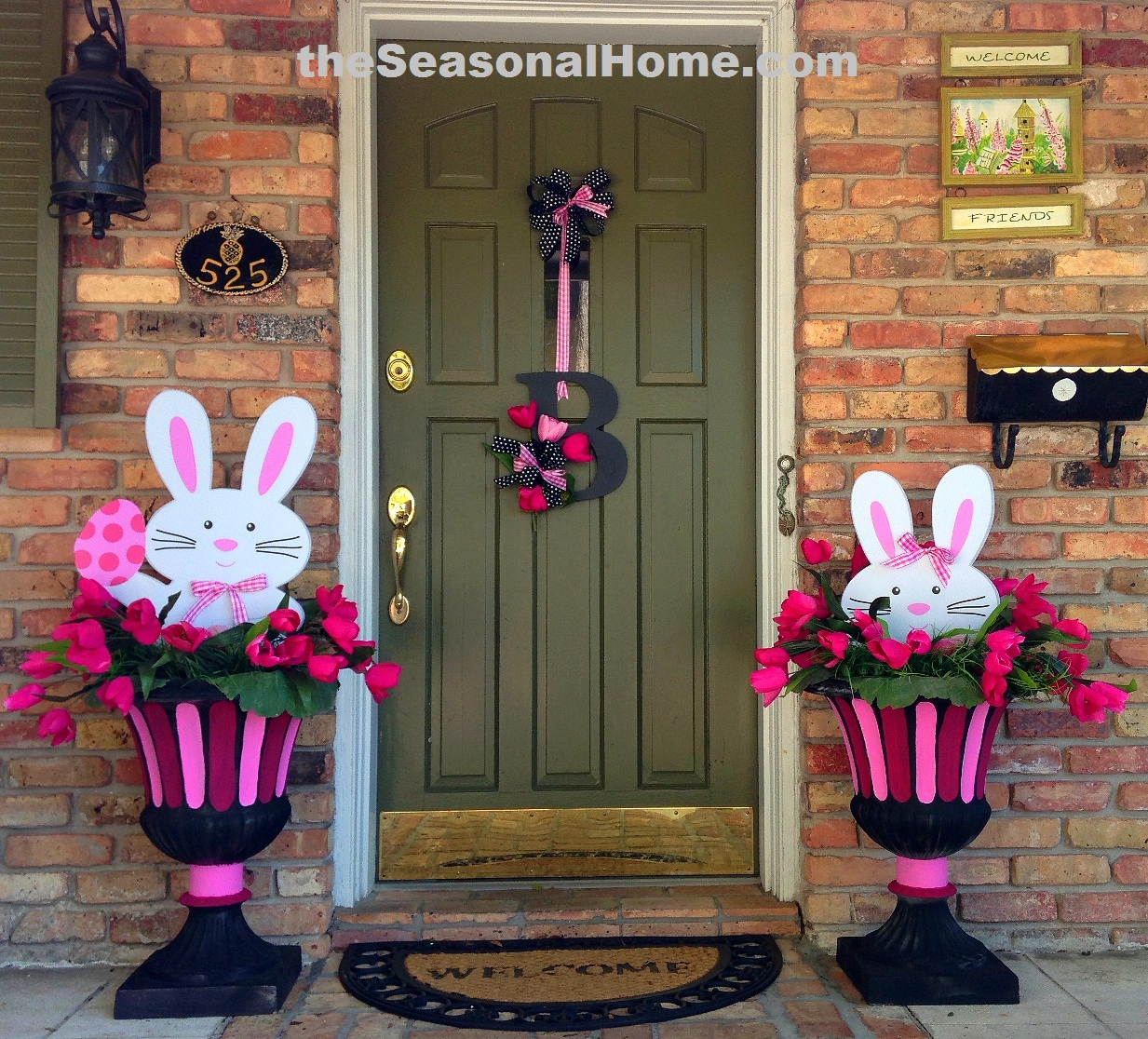 2 Easter Bunnies  3 different Looks!  The Seasonal Home