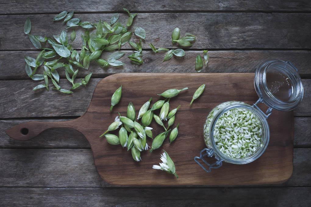 Pickled Wild Garlic Flower Buds -- Seasonal Food UK | https://theseasonaltable.co.uk/savoury/pickled-wild-garlic-flower-buds/