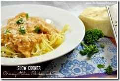 Slow Cooker Creamy Italian Chicken and Sauce