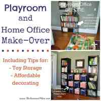 Playroom and Home Office Make-Over - The Seasoned Mom