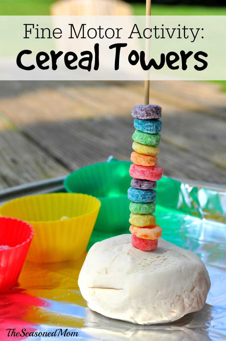 Fine Motor Activity Cereal Towers