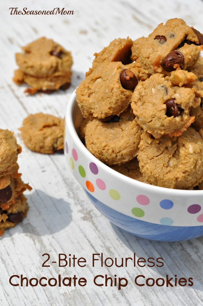 2 Bite Flourless Chocolate Chip Cookies