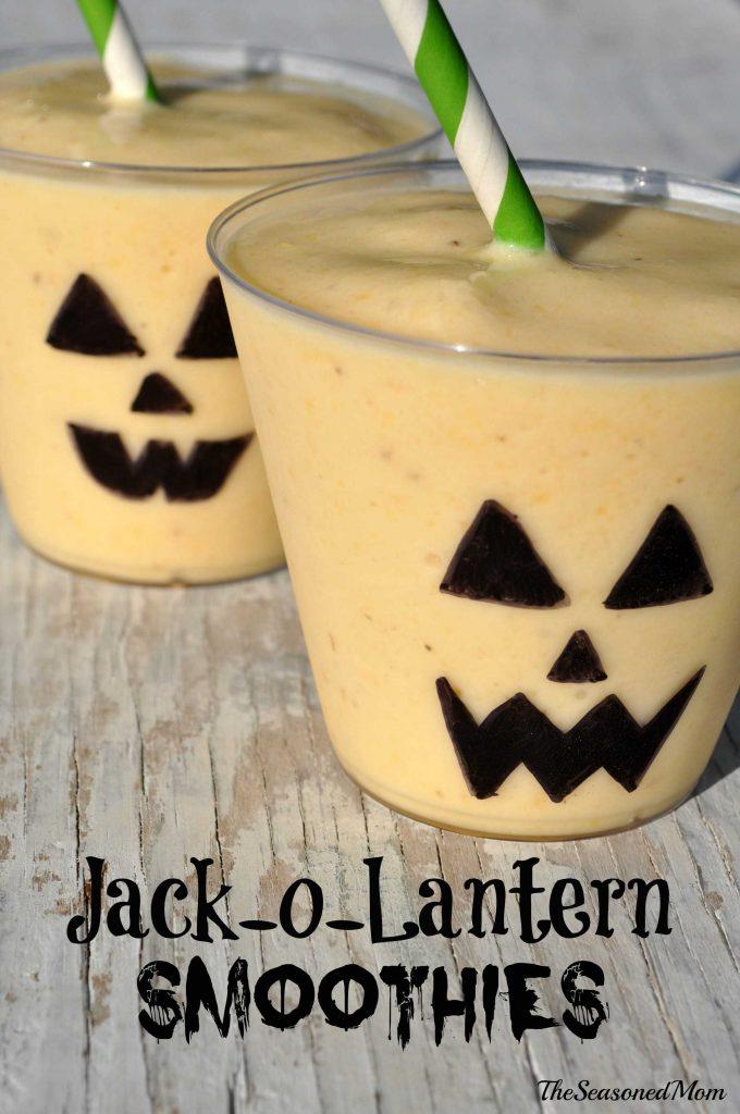 Jack o lantern smoothies