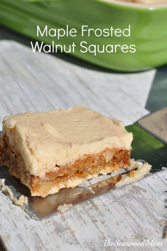 Maple Frosted Walnut Squares 2