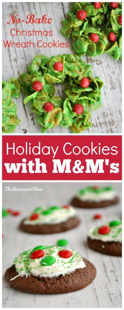 Holiday Cookies with M&M's