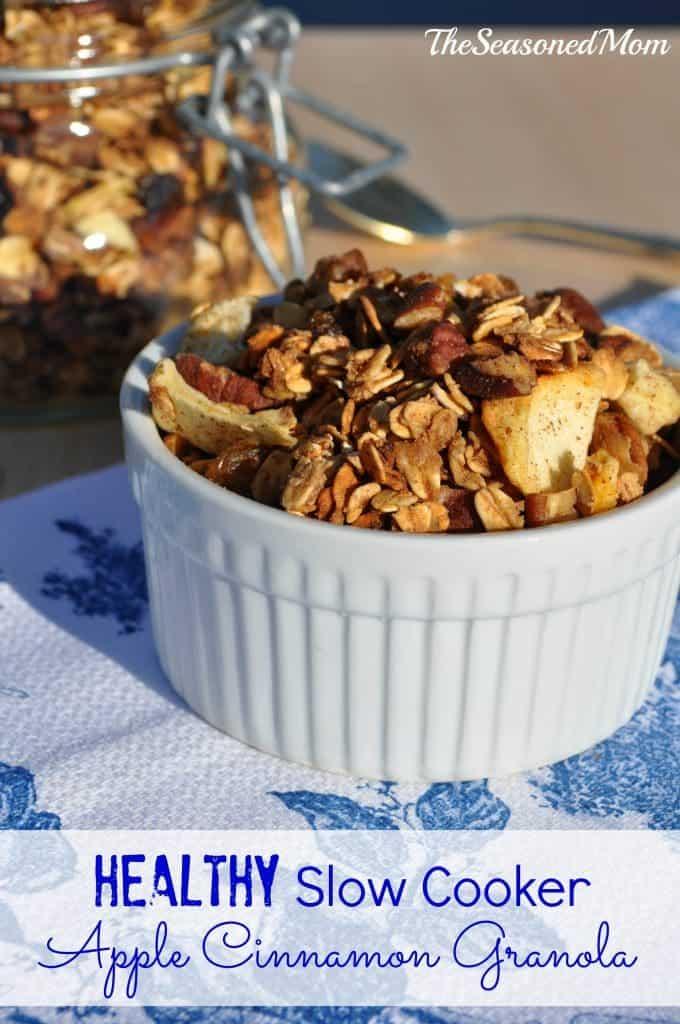 Healthy Slow Cooker Apple Cinnamon Granola