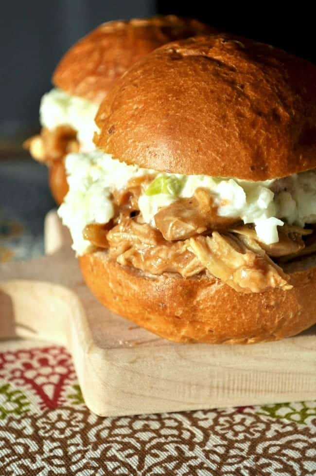 Slow Cooker Cherry Cola Barbecue Chicken Sliders 2
