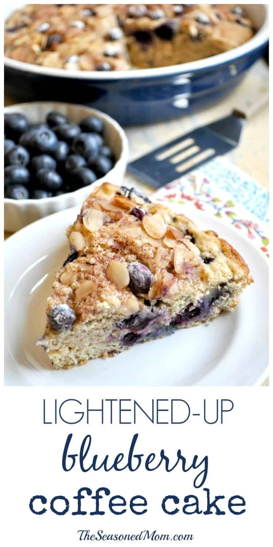 Lightened Up Blueberry Coffee Cake