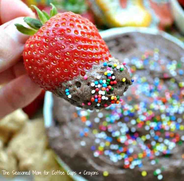 3 Ingredient Chocolate Cake Batter Dip 6A