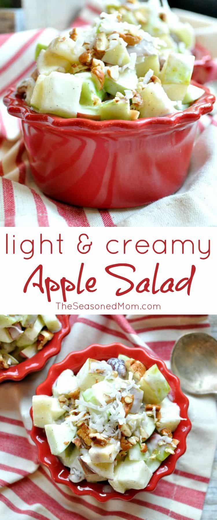 Light and Creamy Apple Salad