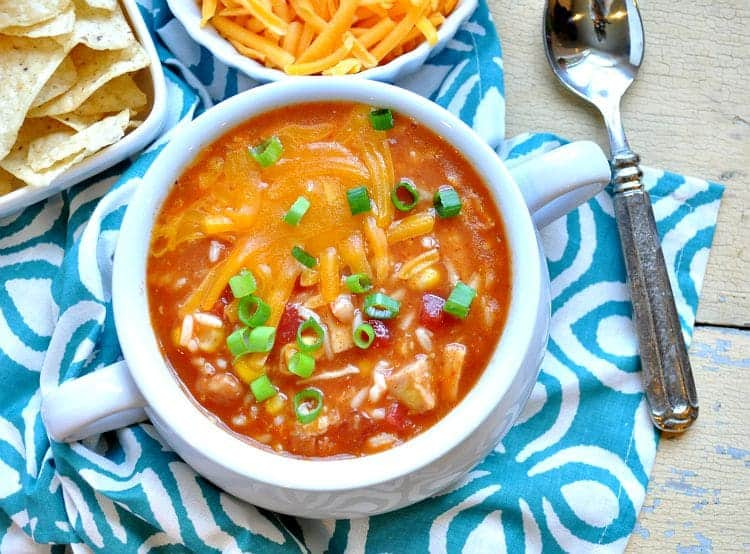 Shortcut Mexican Chicken and Rice Soup 3