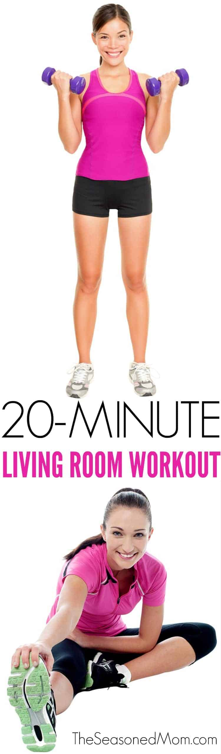 20 minute living room workout the seasoned mom for Living room exercises