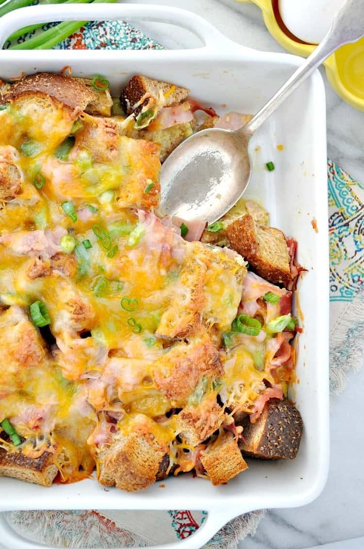 Ham Egg Cheese Breakfast Strata 8
