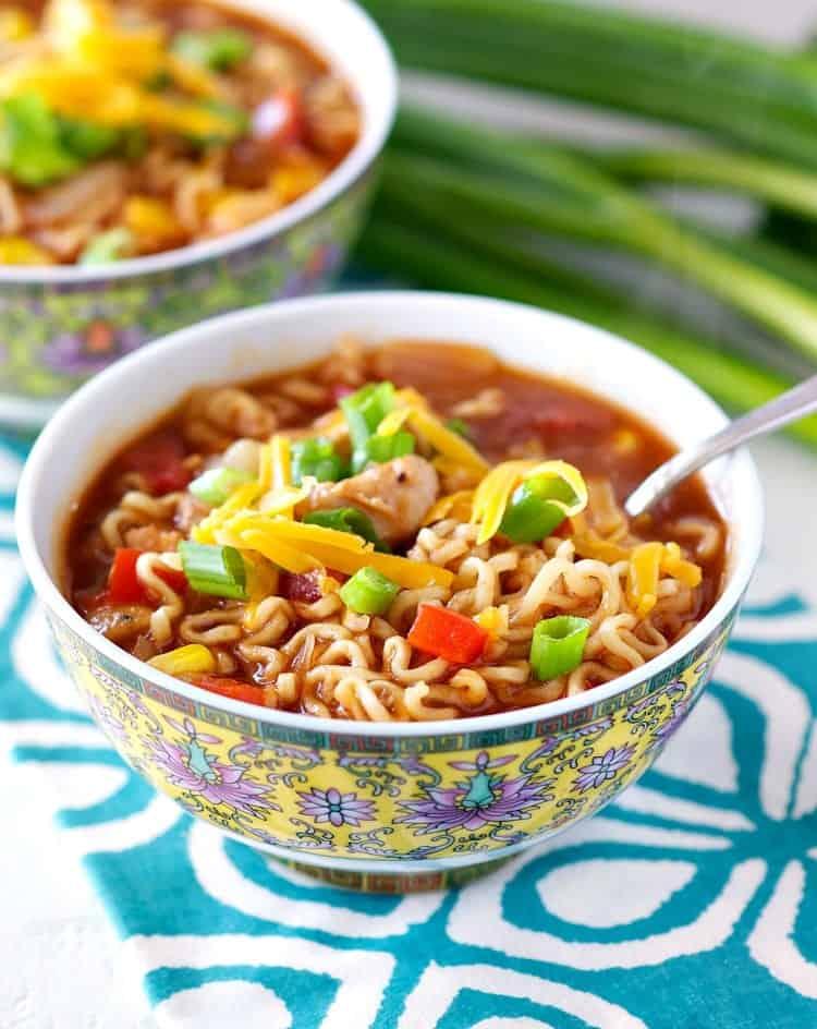 Barbecue Chicken Ramen Noodle Bowls 7