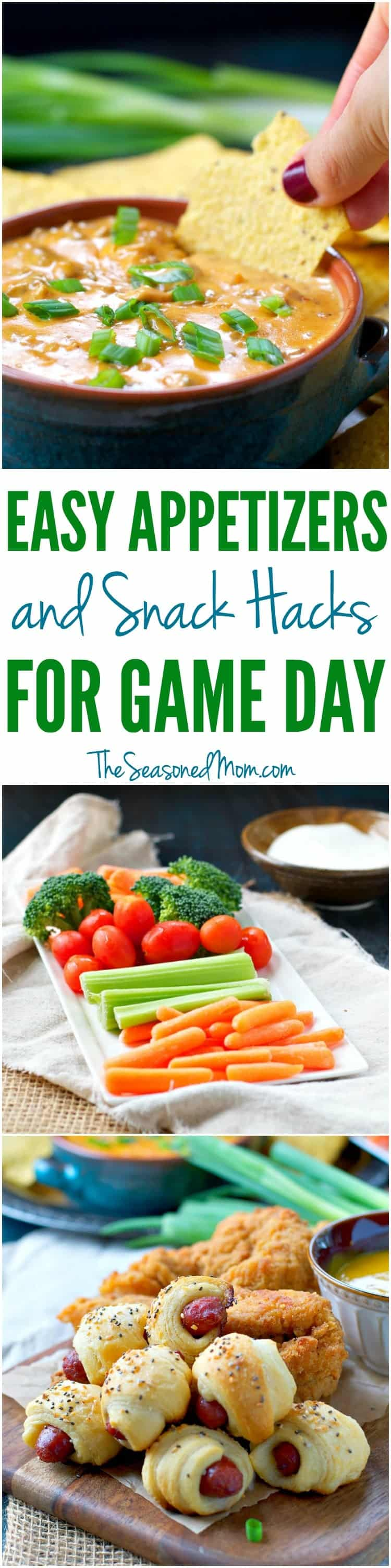 Wow the guests at your next party with these Easy Appetizers and Snack Hacks that are perfect for Game Day!