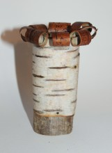 Small bark pot with curly rim