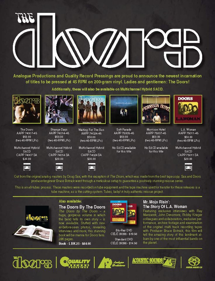 Celebration of the Lizard: Opening The Doors' Catalogue on SACD