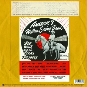 Bob Wills - Back Cover