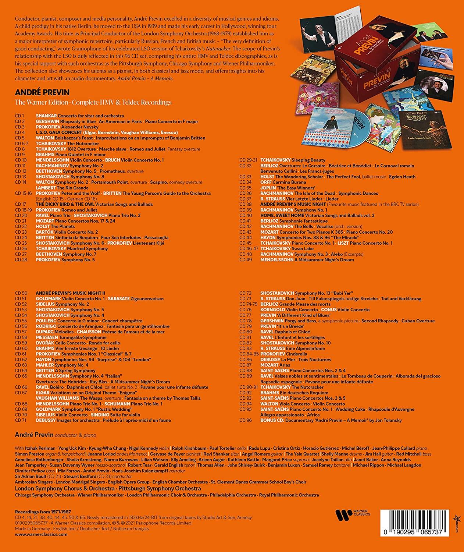 Andre Previn Warner Edition Tracklist