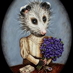 """""""The Betrothed With Violets"""" by Kathleen Powers (Card)"""