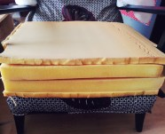 TheSecretCostumier - Reupholstered wingback chair foam