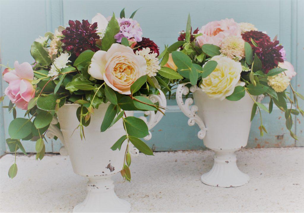 small urn flower arrangement