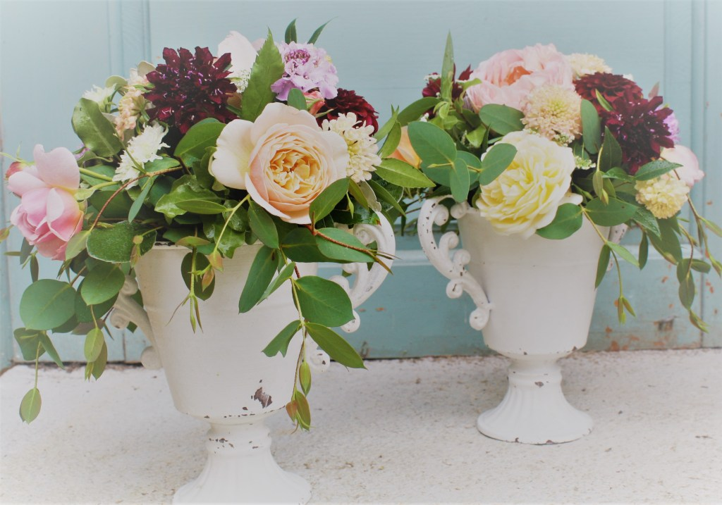 small urn flower arrangement
