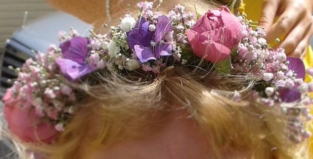 flower girl crown summer