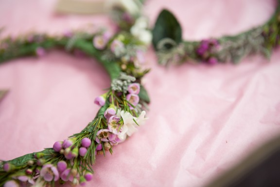 Flower Girl Crown Winter