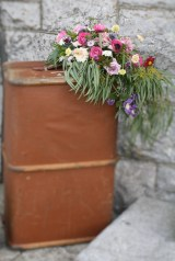 Vintage Steamer Trunk Wedding Flowers