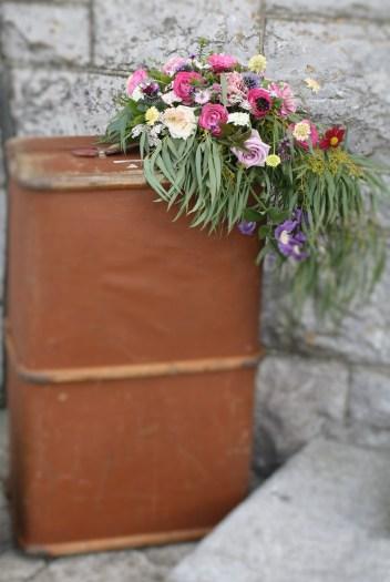 Vintage Steamer Trunk Wedding Flowers