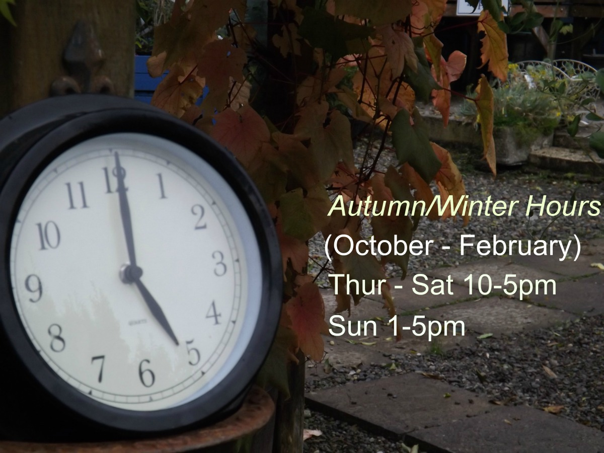 Our new opening hours for autumn & winter.
