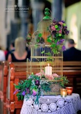 Large Birdcage Flower Arrangement