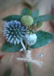 echinops, poppy & craspedia