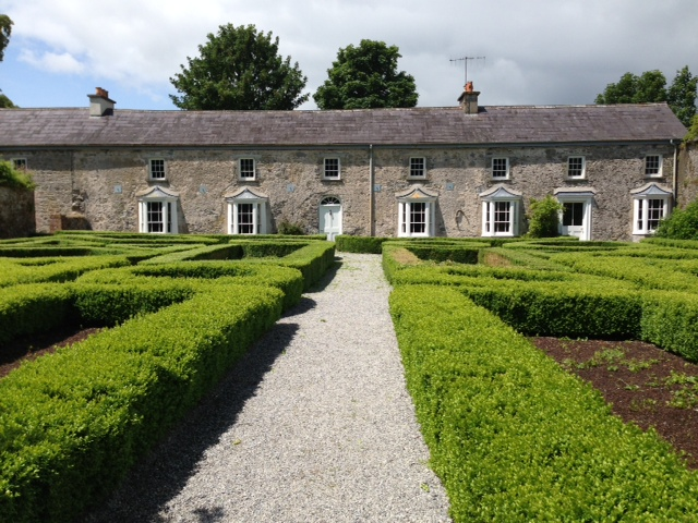 The parterre garden and staff houses