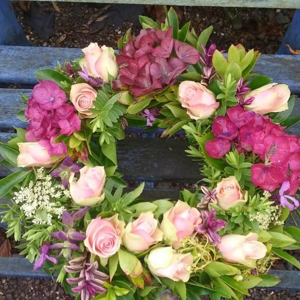 pink hydrangea & rose