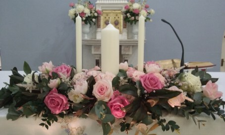 Pink and White Altar flowers