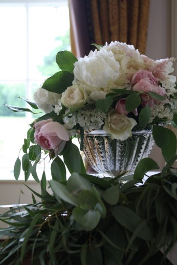 Table Flowers Civil Ceremony