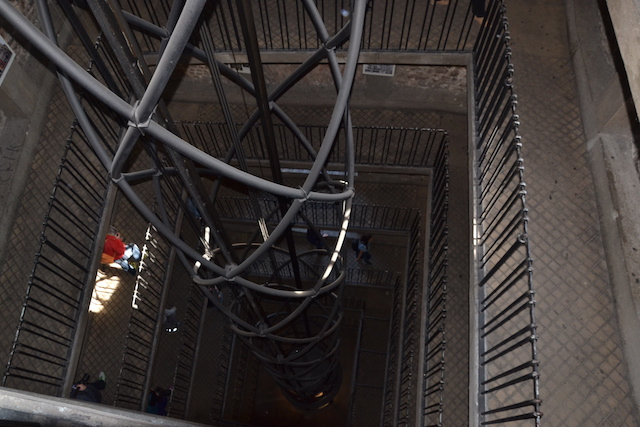 Elevator in the clock tower prague