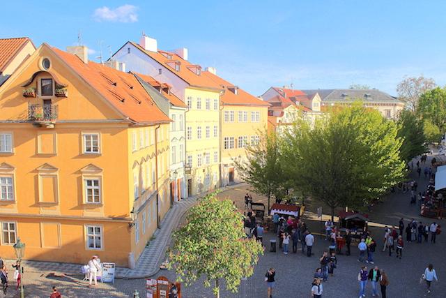 View from Charles bridge Prague