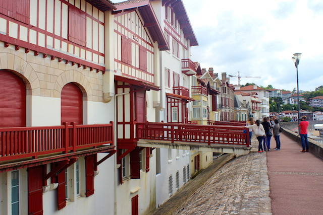 Along the beach in Saint-Jean de Luz, France
