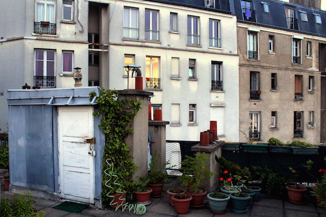 Private terrace in Montmartre Paris